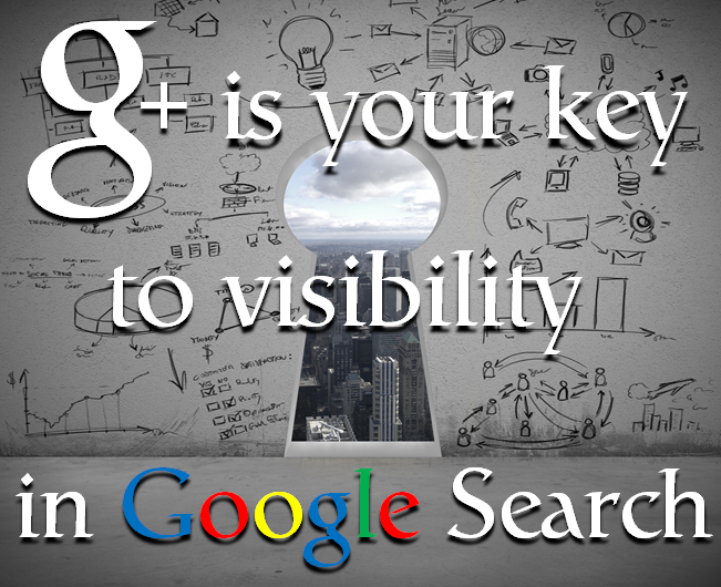 Google Plus is your key to visibility in Google Search