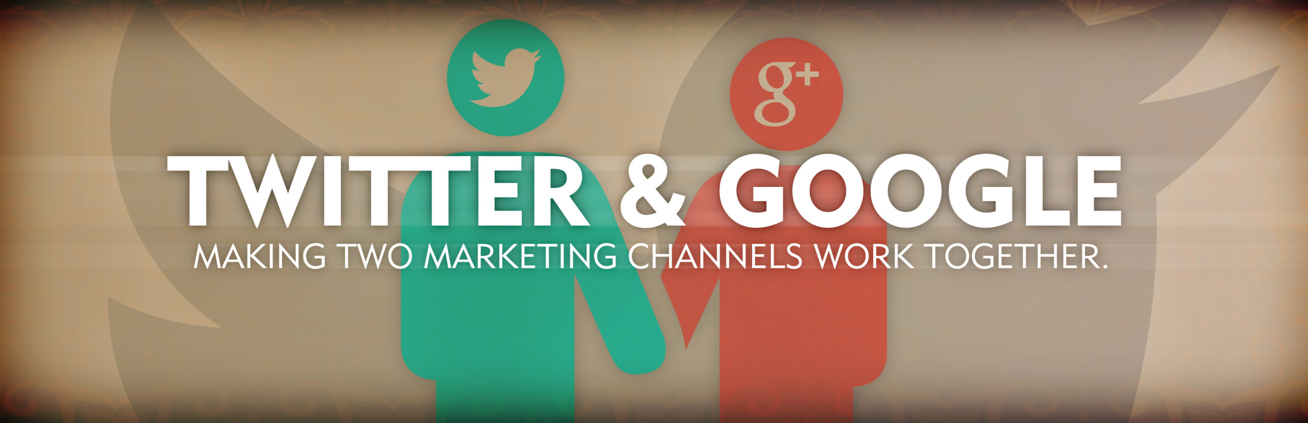 twitter and google social channels working together