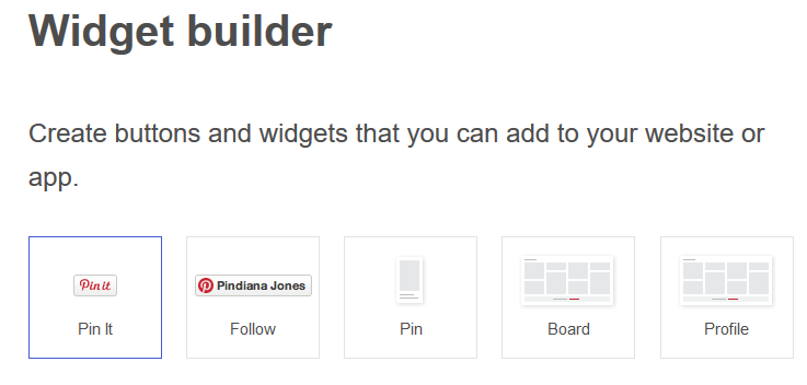pinterest widget builder
