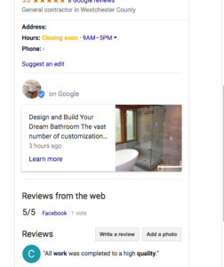 Google Post in business knowledge panel