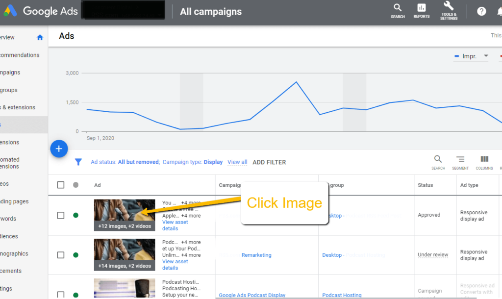 how to generate an external preview link in Google Ads