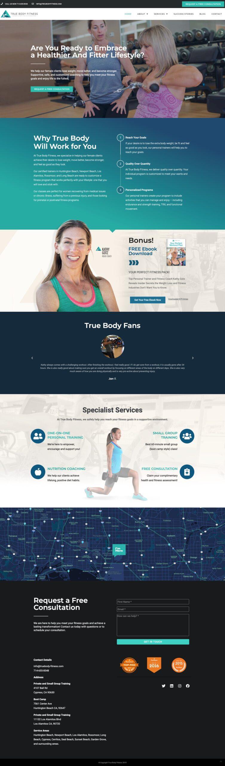 True Body Fitness Website